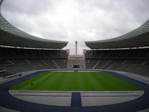 Das Olympiastadion in Berlin - hier findet heute das Länderspiel Deutschland gegen Brasilien statt. (Foto AFP)