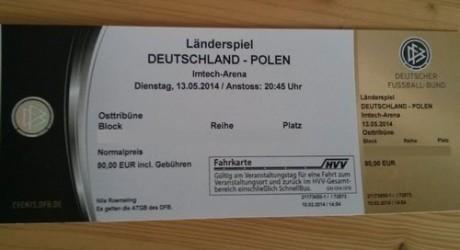 Tickets fürs DFB-Länderspiel gegen Polen