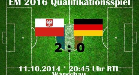 Polen – Deutschland 2:0 EM-Qualifikation Ergebnisse