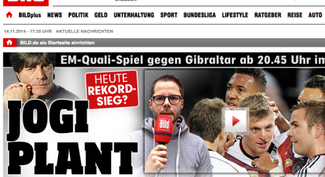 """Pressestimmen Deutschland Gibraltar : """"Heute Rekordsieg?"""""""