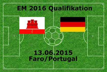 Länderspiel 2015 Gibraltar gegen Deutschland