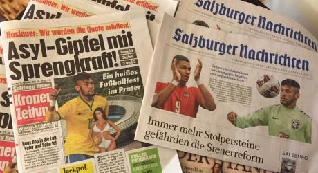 Länderspiel Ergebnis – 1:2 Österreich gegen Brasilien