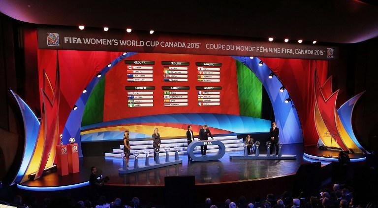 Fotoquelle: AFP / Frauen WM 2015 *** Gruppenauslosung heute in Kanada