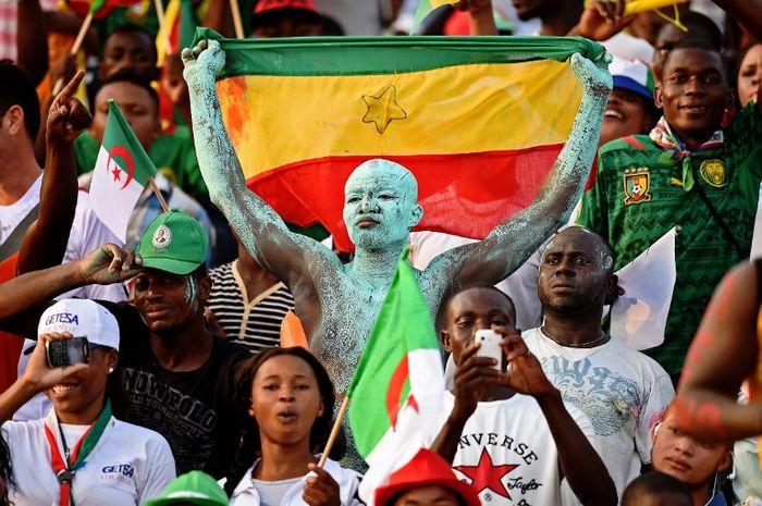 Afrikanische Fußballfans (Foto AFP)