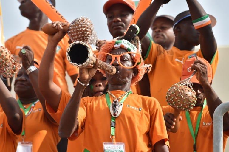 Fußballfans aus der Elfenbeinküste (Foto AFP)
