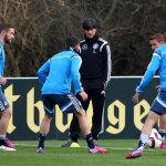 Fußball heute: Training in Tiflis (Foto AFP)