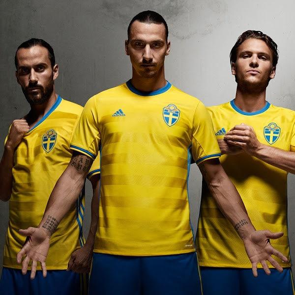 Das Heimtrikot von Schweden in Gelb