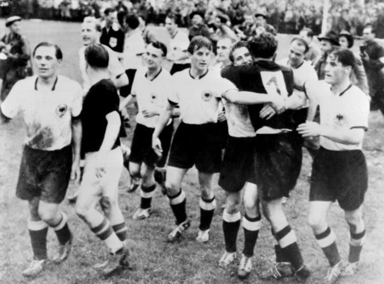 Deutschland wird Weltmeister - Das Wunder von Bern am 04 Juli 1954. AFP PHOTO/INTERCONTINENTALE