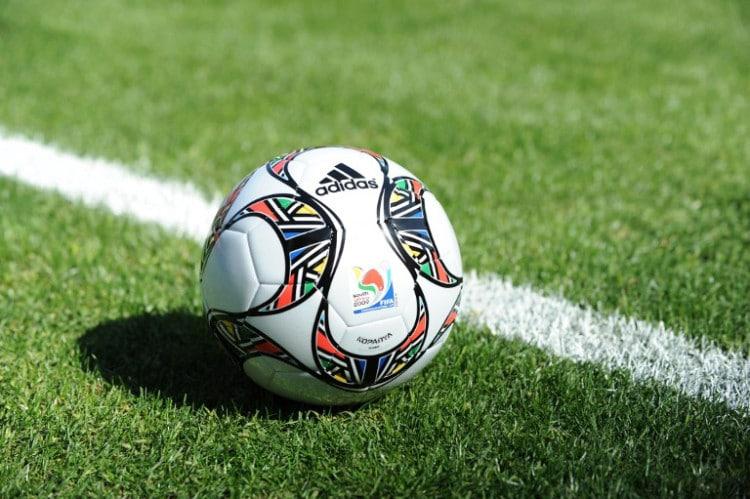 Kopanya, der offizielle Spielball des Fifa Confederations Cup 2009. AFP PHOTO / FRANCOIS XAVIER MARIT