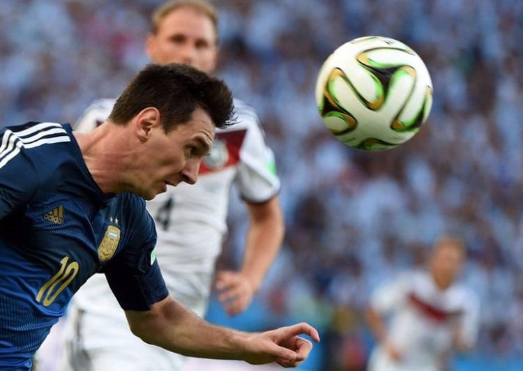 Argentiniens Lionel Messi beim Finale Deutschland gegen Argentinienam 13.Juli 2014. AFP PHOTO / PATRIK STOLLARZ