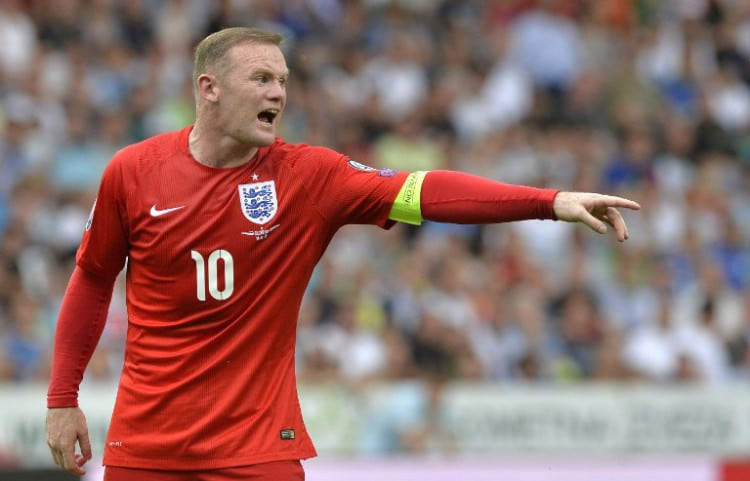 Englands Wayne Rooney im EM-Quali-Spiel gegen Slowenien in Ljubljana am 14.Juni 2015.AFP PHOTO/SAMUEL KUBANI