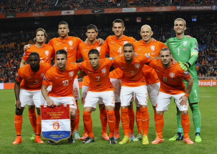 Die Elftal am 16.November 2014 in Amsterdam. AFP PHOTO / JOHN THYS