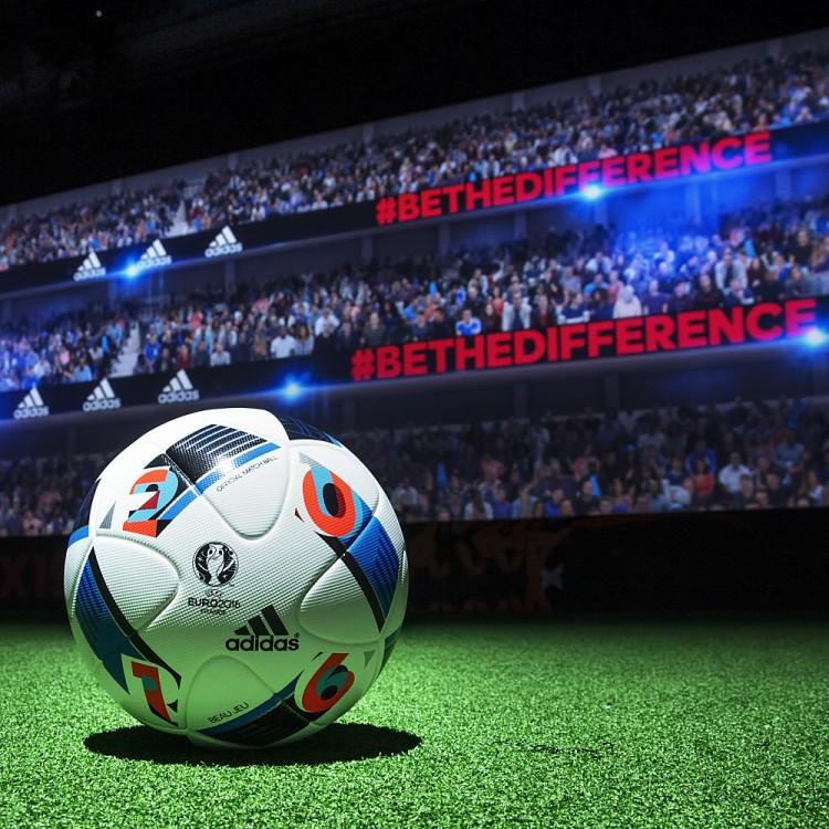 """Der neue Spielball von adidas zur Fußball EM 2016 wird """"Beau Jeu 2016"""" heißen."""