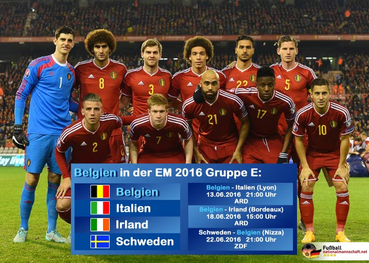 fussball em belgien