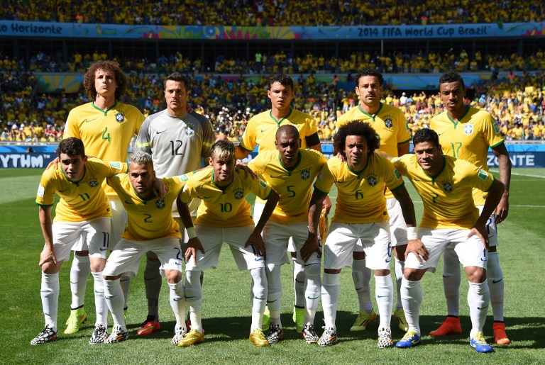 Brasiliens Nationalmannschaft beim 2014 FIFA World Cup am 28.Juni 2014. AFP PHOTO / VANDERLEI ALMEIDA