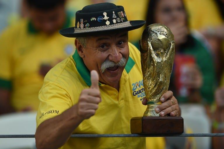 Brasilien - schon lange kein WEltmeister mehr! AFP PHOTO / EITAN ABRAMOVICH
