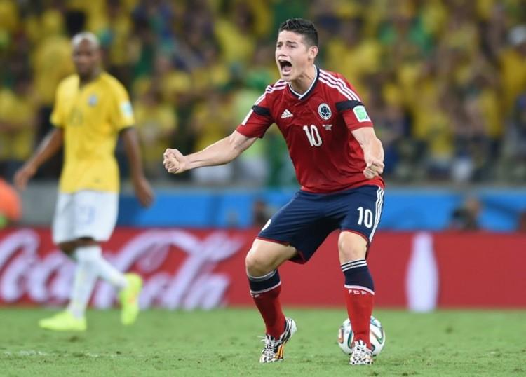 Der Kolumbianer James Rodriguez wurde 2014 Torschützenkönig - bisher konnte er nur eine halbe Stunde spielen - heute gegen Polen soll es wieder Tore geben! AFP PHOTO / VANDERLEI ALMEIDA