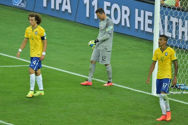 1:7 verliert Brasilien im WM 2014 Halbfinale. AFP PHOTO / GABRIEL BOUYS