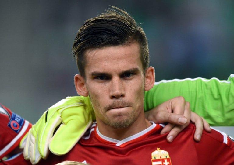 Ungarns Mittelfeldspieler Zoltan Stieber im September 2015. AFP PHOTO / ATTILA KISBENEDEK / AFP / ATTILA KISBENEDEK
