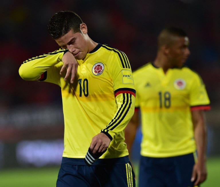 Kolumbiens James Rodriguez bei den FIFA World Cup South American Qualifiers gegen Chileam 12. November 2015. AFP PHOTO / MARTIN BERNETTI / AFP / MARTIN BERNETTI