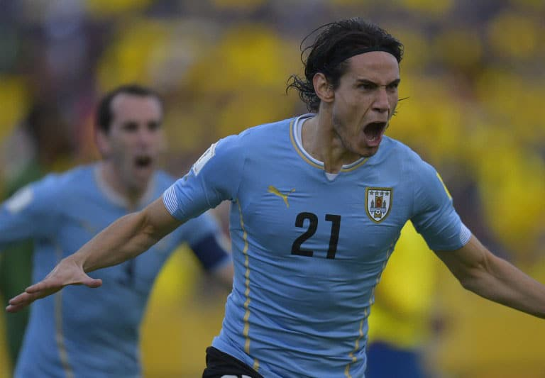 Uruguay's Edinson Cavani bei der Qualifikation zum 2018 FIFA World Cup South American Qualifiers am 12.November 2015. AFP PHOTO / RODRIGO BUENDIA / AFP / RODRIGO BUENDIA