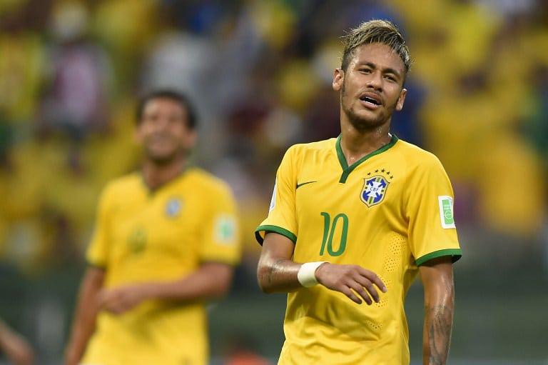 Neymar im Auftaktspiel der WM 2014 im eigenen Land. Mittlerweile steht der Superstar der brasilianischen Selecao bei Paris Saint-Germain unter Vertrag. AFP PHOTO / FABRICE COFFRINI