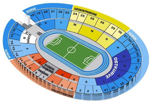 Sitzplätze Olympiastadion