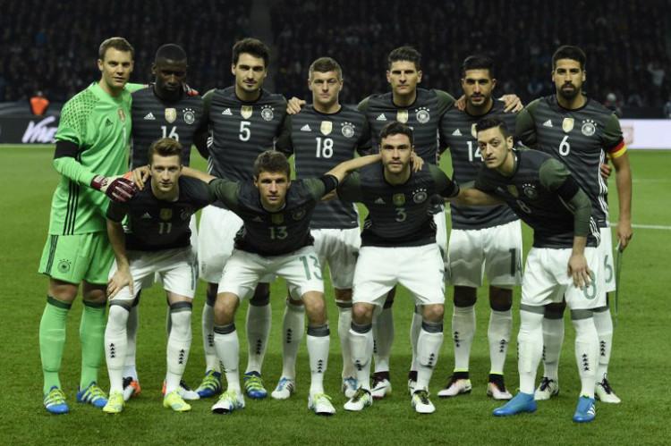 Deutschlands Aufstellung gegen England (Foto AFP)