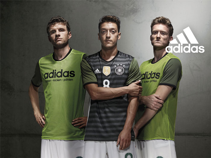 Das neue DFB Auswärtstrikot 2016 in grün-grau (Copyright adidas)