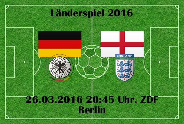 Länderspiel Deutschland gegen England
