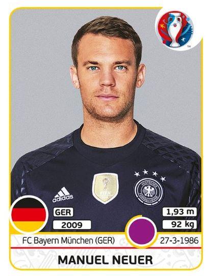 panini sticker em 2016 alle deutschen nationalspieler. Black Bedroom Furniture Sets. Home Design Ideas