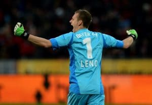Bernd Leno, der Torwart von Bayer Leverkusen