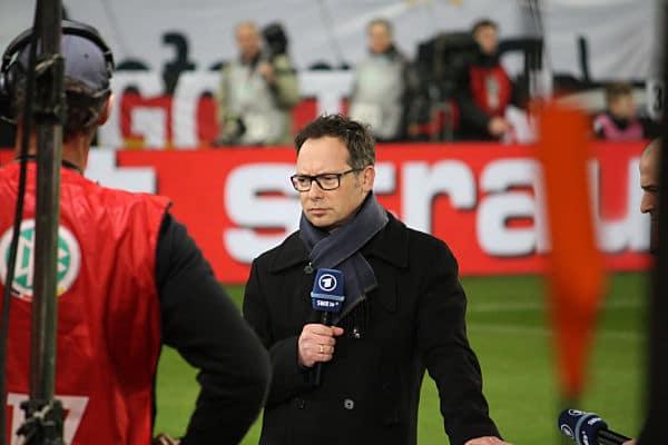 Matthias Opdenhövel vor dem Länderspiel Deutschland - Chile im März 2014 (eigenes Archiv)