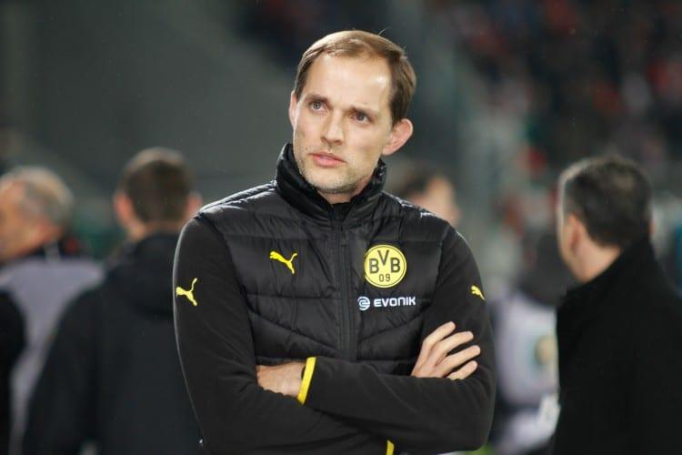Thomas Tuchel vom BVB heute Abend gegen den FC Liverpool. (Fotoquelle: Sport-in-Augsburg.de)