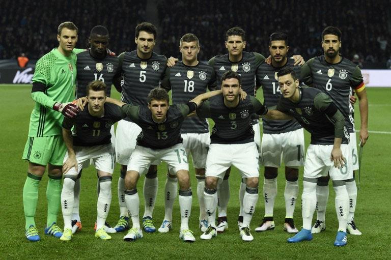 Die deutsche Startelf gegen England.