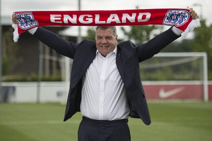 Englands Ex-Trainer Sam Allardyce hält wohl den Rekord für die kürzeste Amtszeit. Nur ein Pflichtspiel lang war er Trainer der englischen Nationalmannschaft.(Foto AFP)