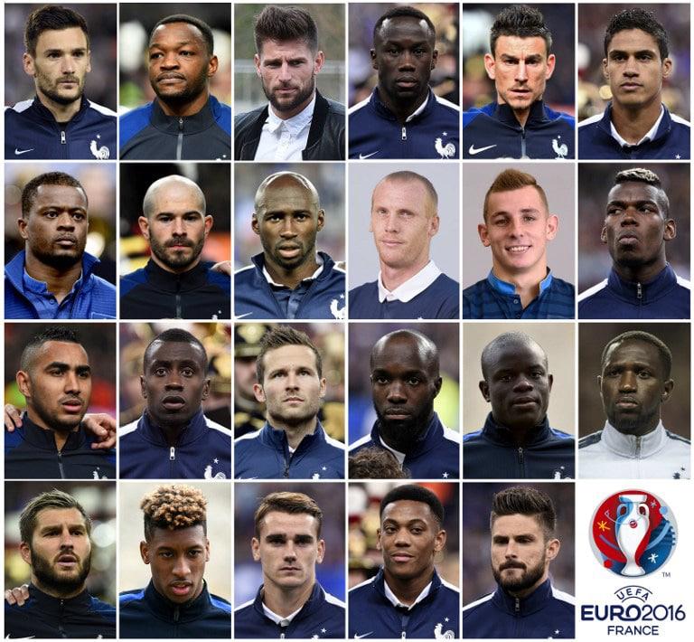 Em Frankreich Spieler