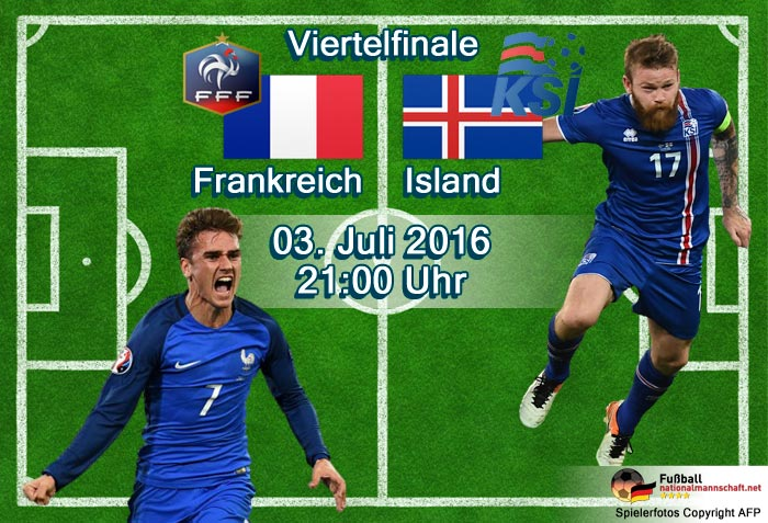 Em 2021 Frankreich Gegen Island