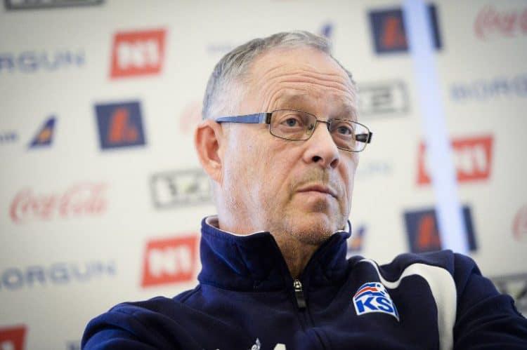 Lars Lagerback: Nationaltrainer von Island. AFP PHOTO / BELGA PHOTO / LAURIE DIEFFEMBACQ