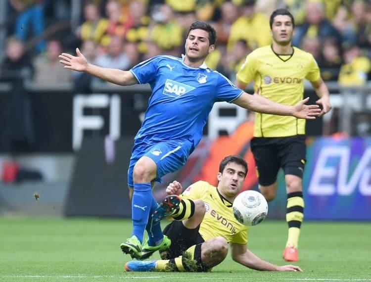 Hoffenheim's Kevin Volland nächstes Jahr im Trikot von Bayer 04 Leverkusen! AFP PHOTO / PATRIK STOLLARZ