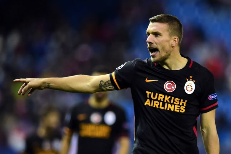 Galatasaray's Stürmer Lukas Podolski