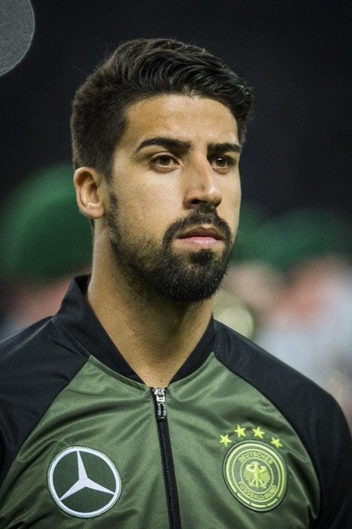 Deutschlands Mittelfeldspieler Sami Khedira
