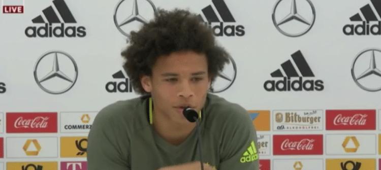 Leroy Sané (Schalke 04) auf der DFB-Pressekonferenz
