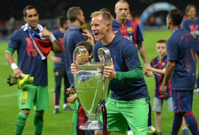 Barcelona's Torwart Marc Ter Stegenh