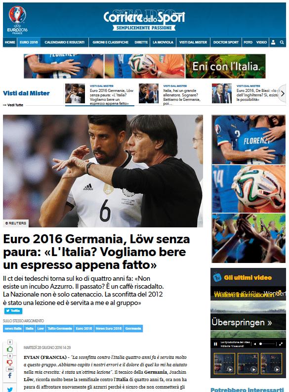 Pressespiegel zum EM-Viertelfinale Deutschland - Italien