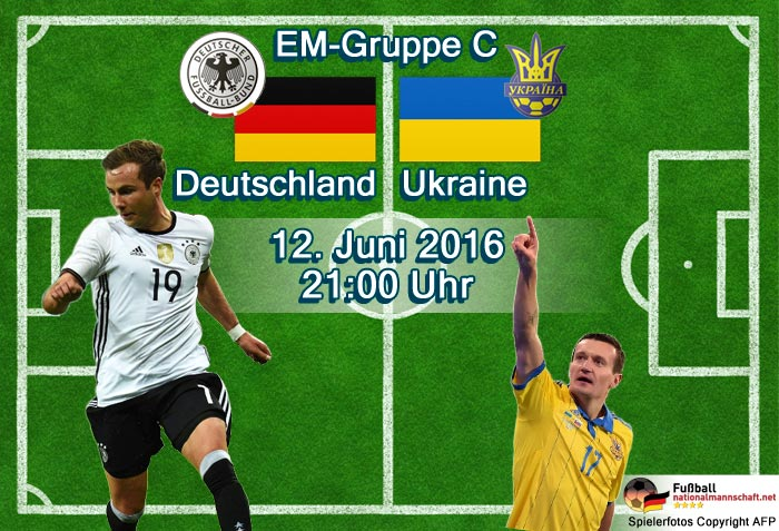 Bei der EM2016 spielt Deutscghland heute gegen die Ukraine
