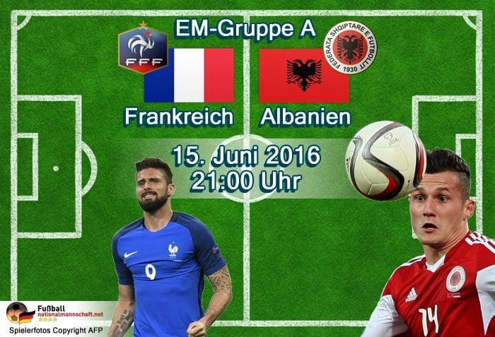 Fußball heute EM 2016 * Frankreich – Albanien live TV, EM Livestream & Aufstellungen heute