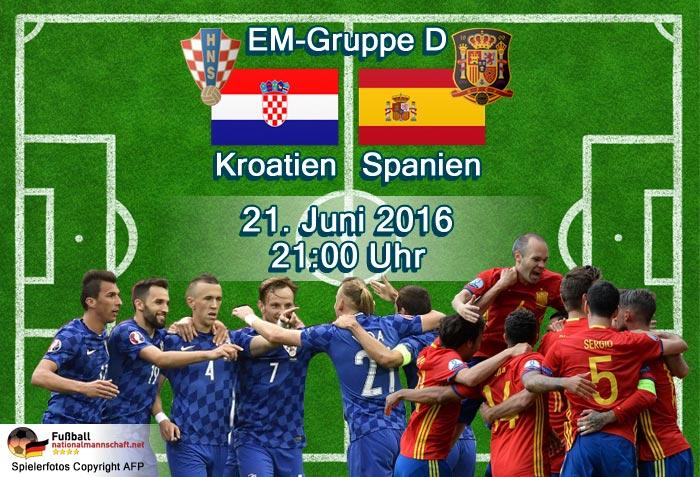 Kroatien Spanien Aufstellung