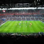 """Testspiel oder Freundschaftsspiel? Blick ins EM-Stadion von Olympique Lyonnais """"Stade des Lumieres""""./ AFP / JEAN-PHILIPPE KSIAZEK"""