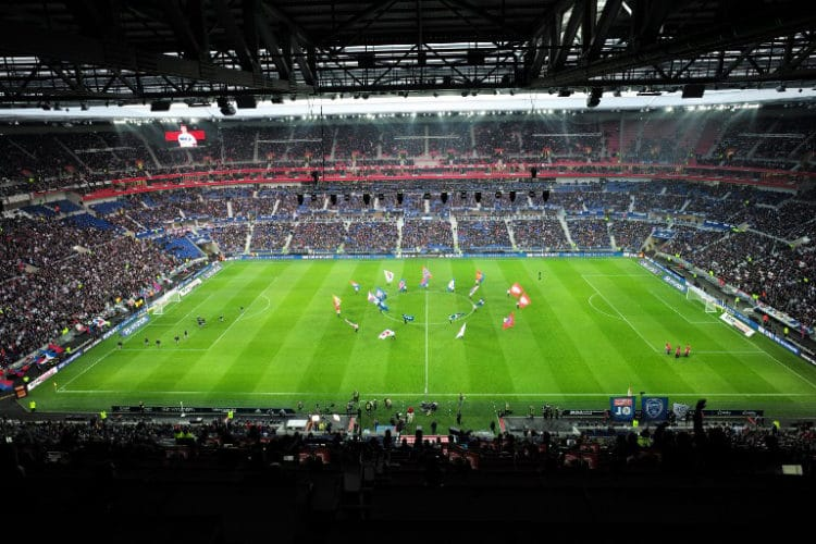 """Das EM-Stadion von Olympique Lyonnais """"Stade des Lumieres""""./ AFP / JEAN-PHILIPPE KSIAZEK"""